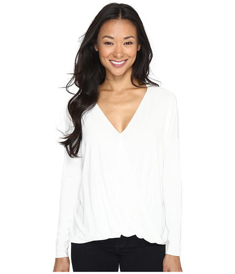 Culture Phit Mahli Crossover Long Sleeve Top - Off-White