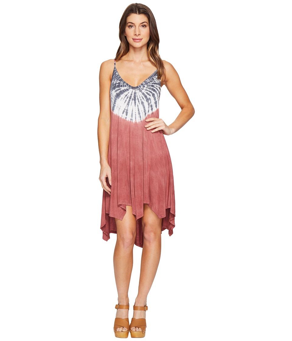 Culture Phit Kelsee Spaghetti Strap Tie-Dye Dress (Pink) Women