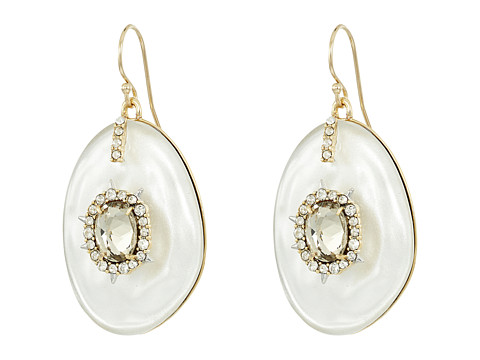 Alexis Bittar Crystal and Stone Studded Liquid Silk Wire Earrings