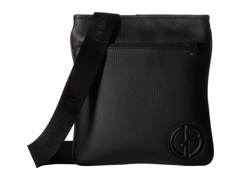 Giorgio Armani Logo Port Case (Black) Messenger Bags