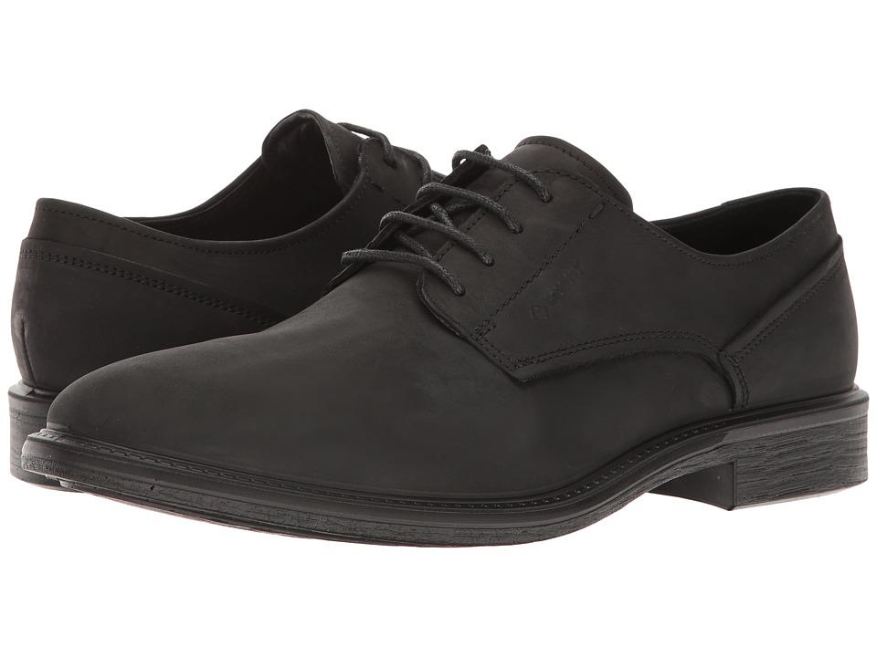 ECCO Knoxville Plain Toe Gore-Tex(r) (Black) Men