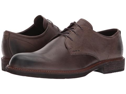 ECCO Kenton Plain Toe Tie - Dark Clay