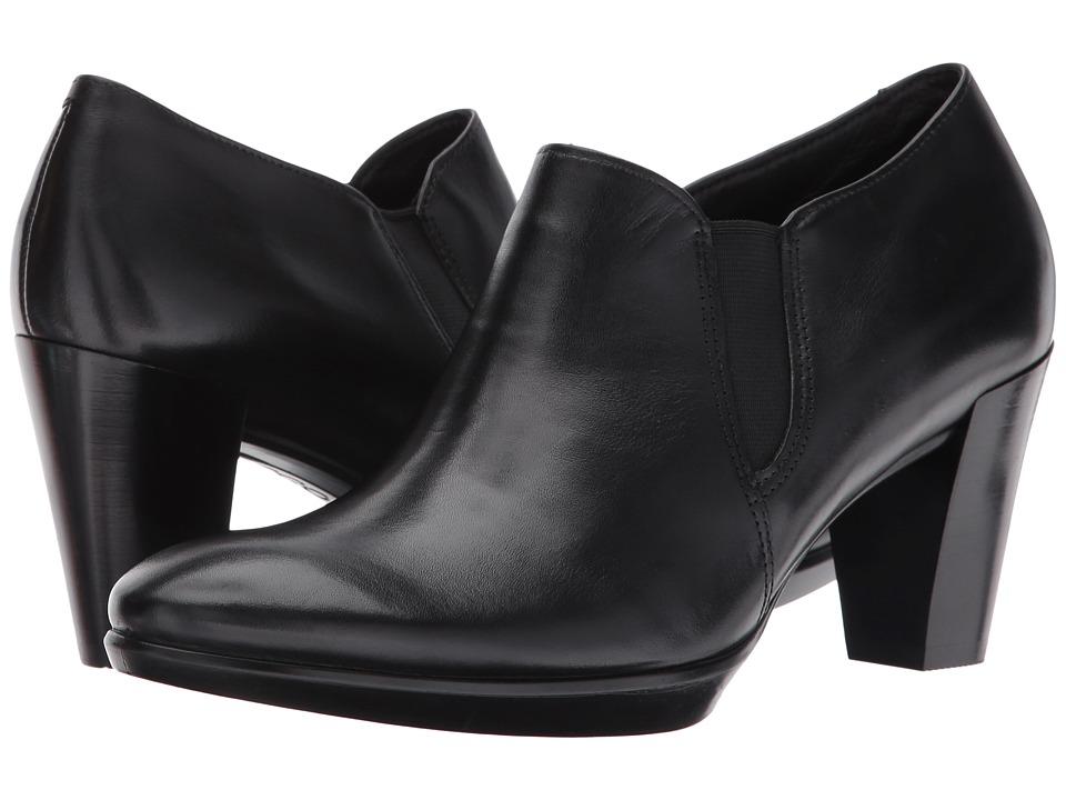 ECCO Shape 55 Plateau Stack Shootie (Black/Black) High Heels