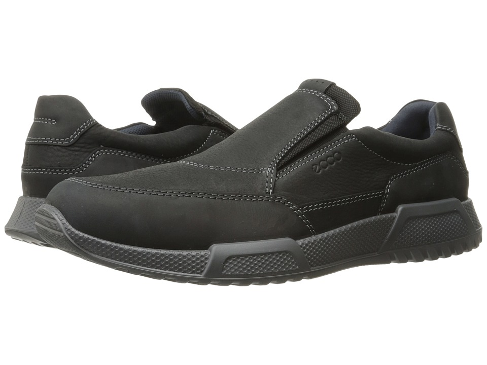 ECCO Luca Slip-On (Black/Black) Men