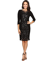 Adrianna Papell - Sequin Panel Jersey Cocktail Dress