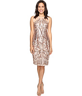 Adrianna Papell - Sequin Panel Illusion Cocktail Dress