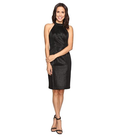 Adrianna Papell Glam Stretch Halter Dress - Black