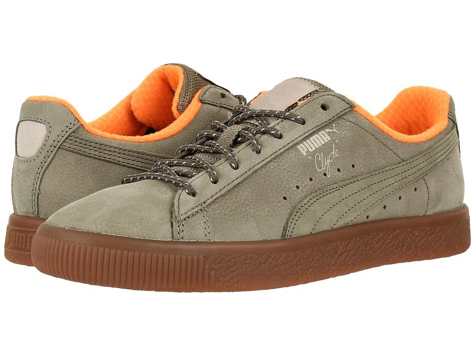 PUMA - Clyde Winter (Burnt Olive/Vintage Khaki) Mens Shoes