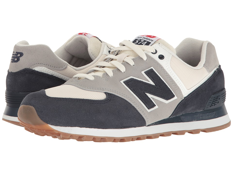 New Balance Classics ML574 Retro Sport (Navy/Silver Mink) Men