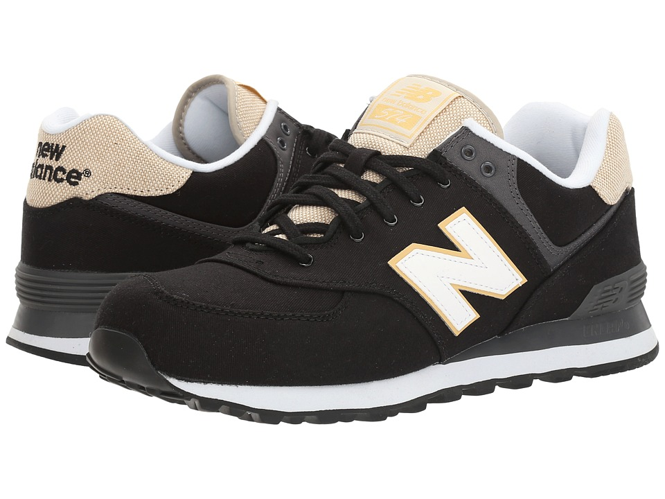 New Balance Classics ML574 Retro Surf (Black/White) Men