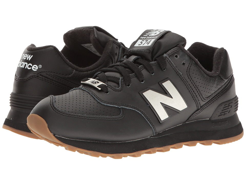 New Balance Classics - ML574 (Black/Silver) Mens Shoes