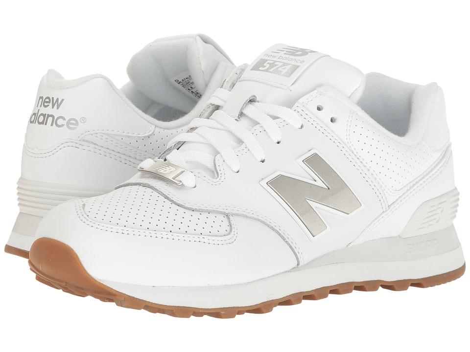 New Balance Classics ML574 (White/Silver) Men