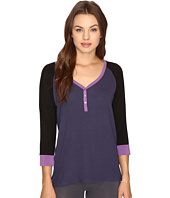 DKNY - 3/4 Sleeve Henley Lounge Top