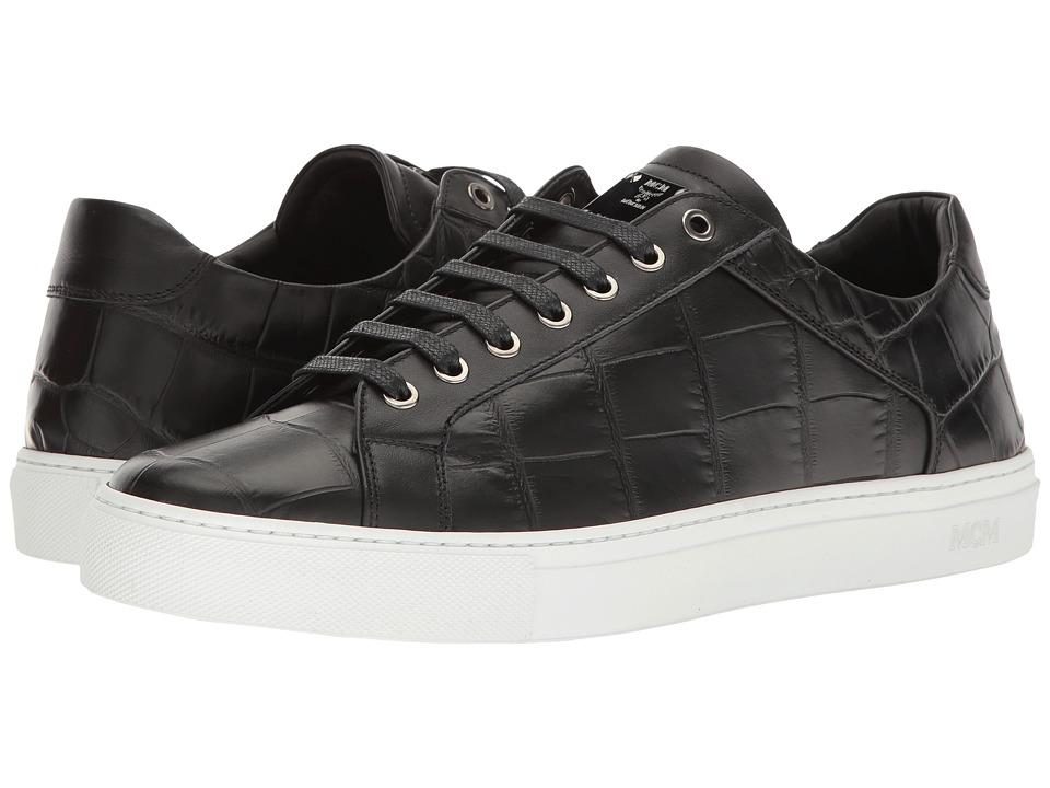 MCM - Stamped Croc Low Top Sneaker