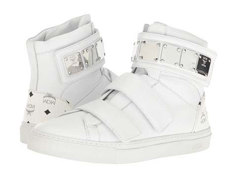 MCM High Top w/ Brass Plate Detail - White