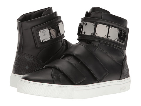 MCM High Top w/ Brass Plate Detail - Black