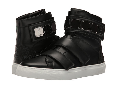 MCM Stamped Croc High Top - Black