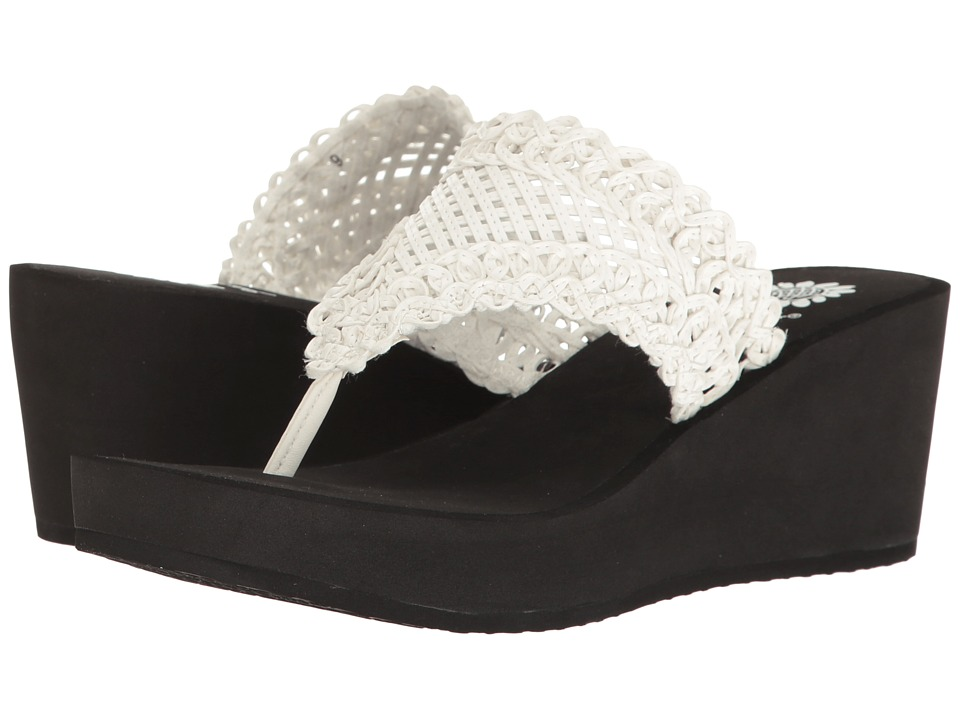 Yellow Box Charm (White) Women's Wedge Shoes
