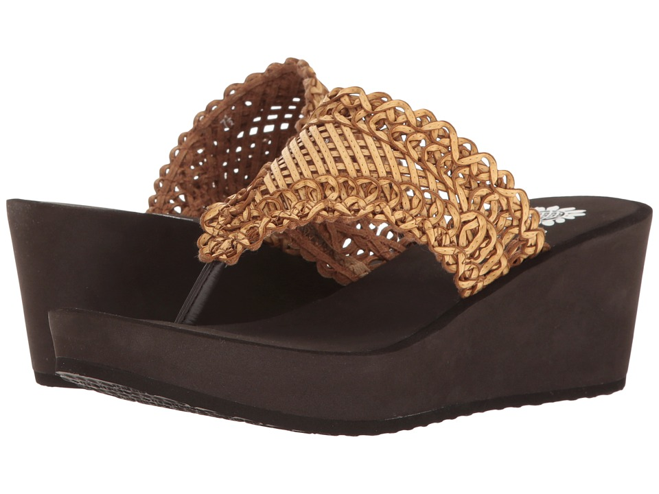 Yellow Box Charm (Brown) Women's Wedge Shoes