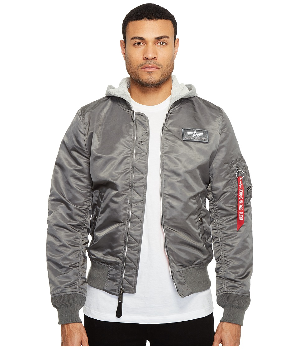 Alpha Industries L-2B Hooded Jacket (Gunmetal) Men's Coat