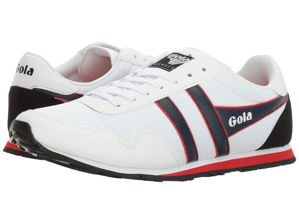 Gola Monaco (White/Navy/Red) Men