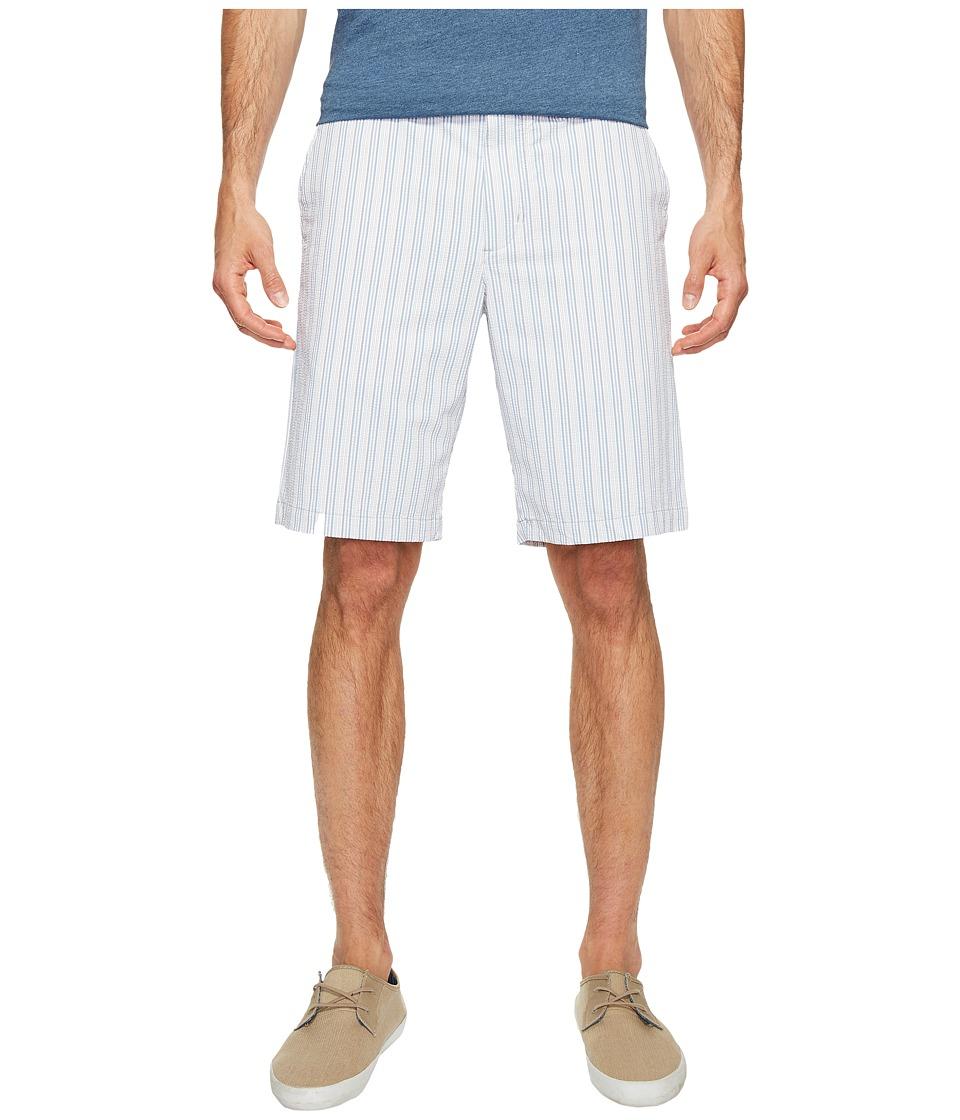 Tommy Bahama Putter Stripe Shorts (White) Men