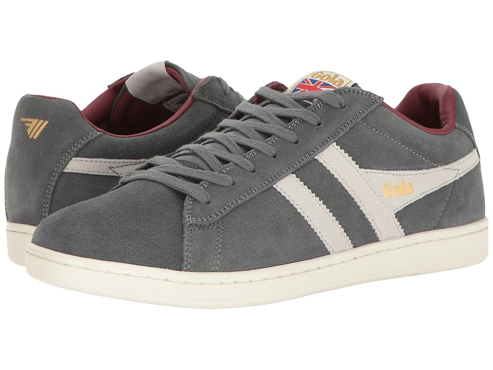 Gola Equipe Suede (Graphite/White/Burgundy) Men