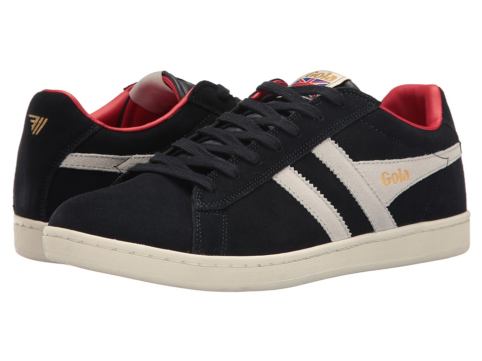 Gola - Equipe Suede (Navy/White/Red) Mens Shoes