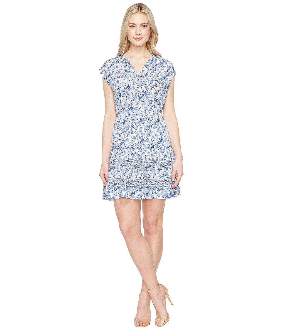 Rebecca Taylor Sleeveless Aimee Shirtdress (Blue Combo) Women
