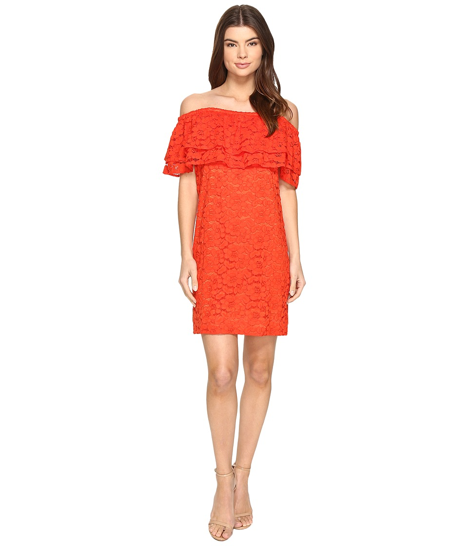 Trina Turk Coctel Dress (Tomate) Women