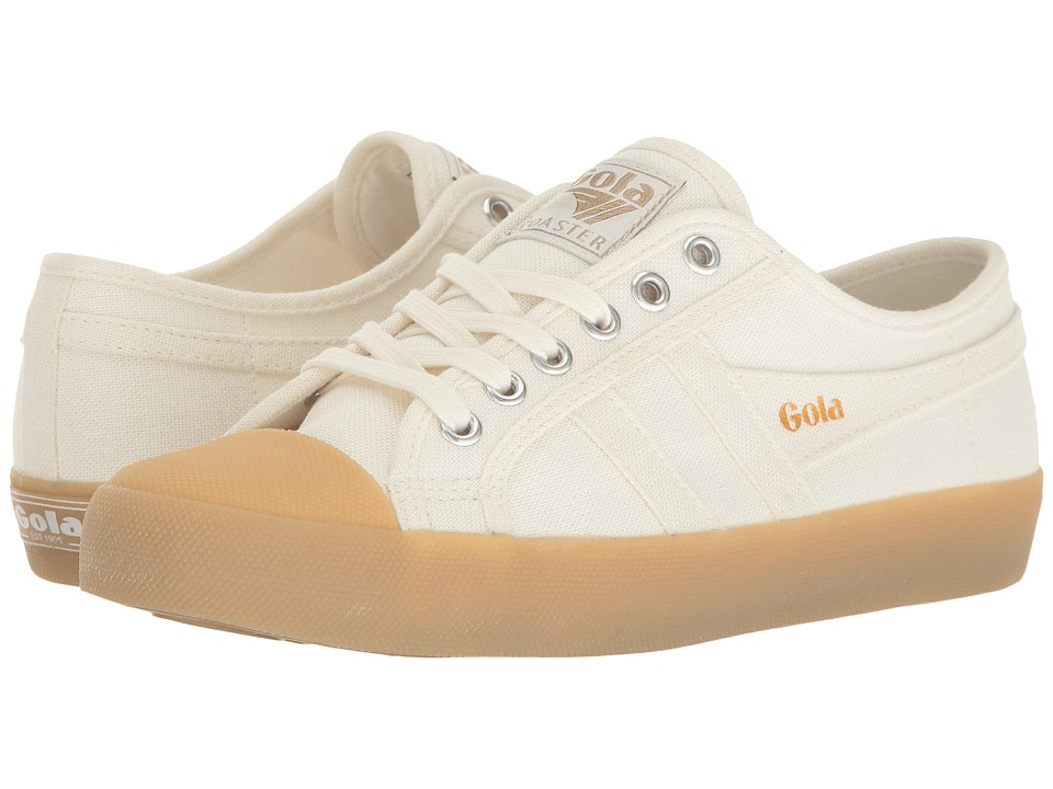 Gola Coaster Linen (Off-White/Gum) Women