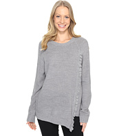 Ivanka Trump - Long Sleeve Sweater with Asymmetrical Ruffle