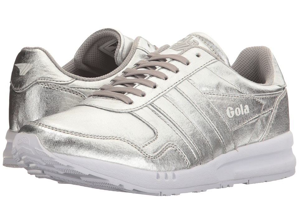 Gola Relay Metallic (Silver/White) Women