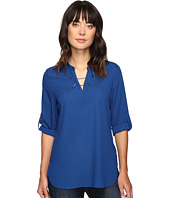Ivanka Trump - Woven Tunic Top with Gold Hardware Chain