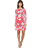 Ivanka Trump - Printed Flower Shoulder Dress