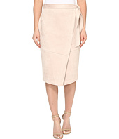 Ivanka Trump - Faux Suede Wrap Skirt