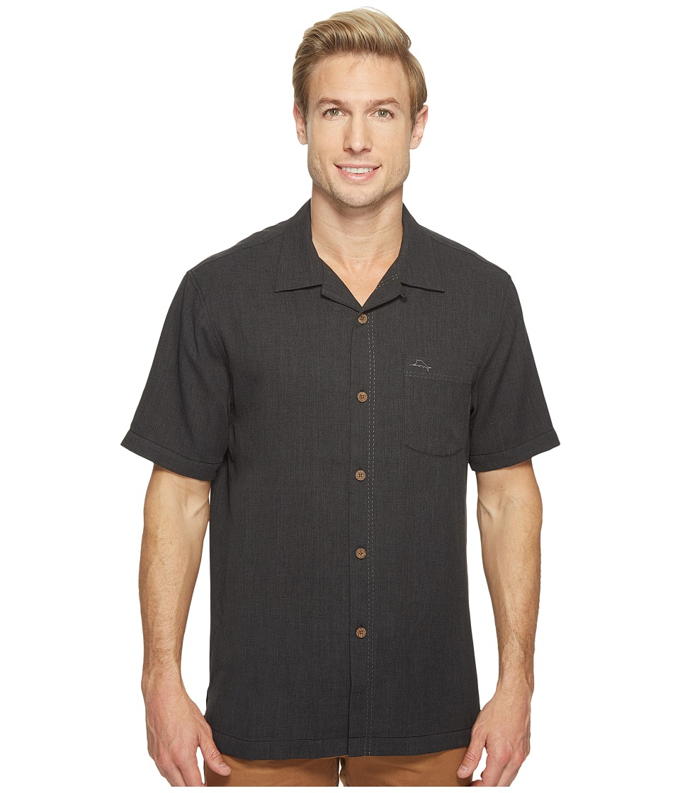 Tommy Bahama Royal Bermuda Camp Shirt (Black) Men's Clothing