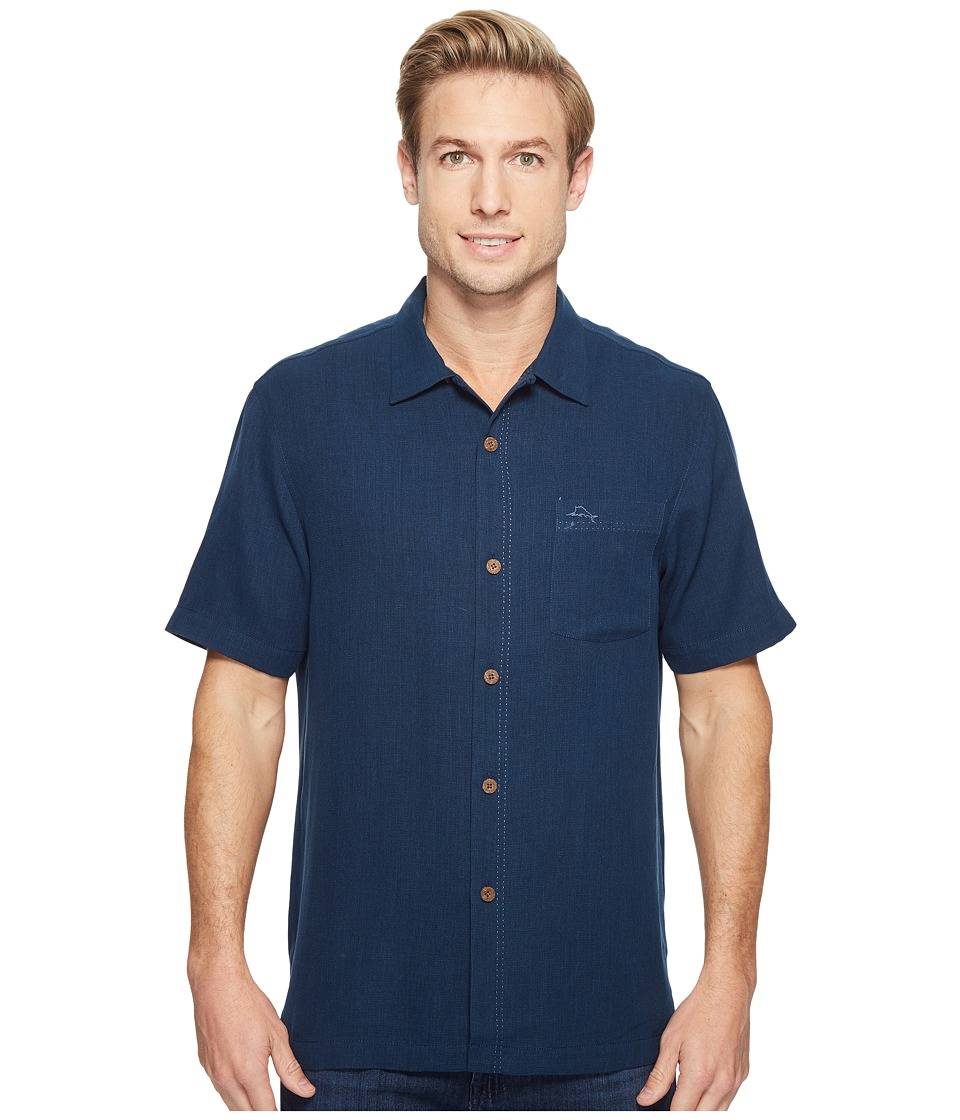 Tommy Bahama Royal Bermuda Camp Shirt (Navy) Men's Clothing
