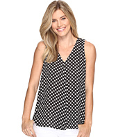 Vince Camuto - Sleeveless Nautical Dots Drape Front Blouse