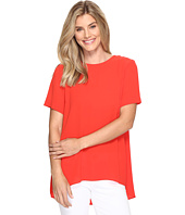 Vince Camuto - Short Sleeve High-Low Hem Textured Blouse