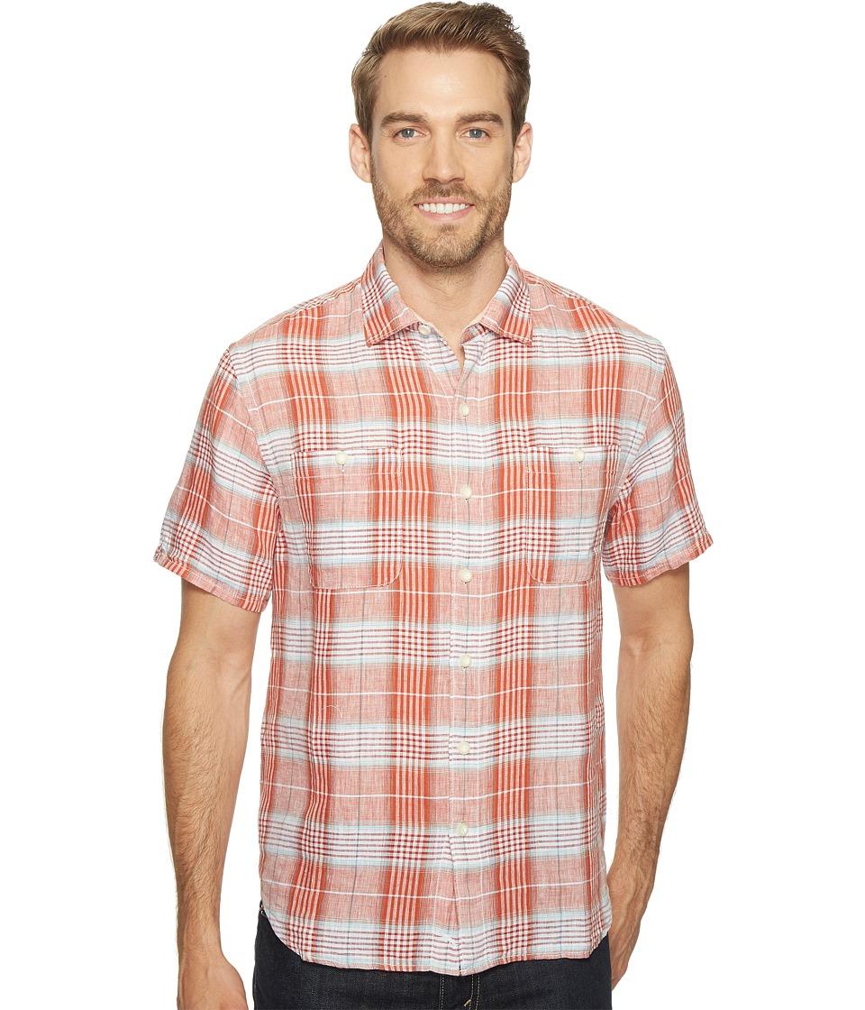 Tommy Bahama Caldera Plaid Camp Shirt (California Poppy) ...