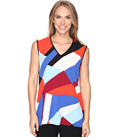 Vince Camuto - Extend Shoulder Marina Blocks Mix Media Top