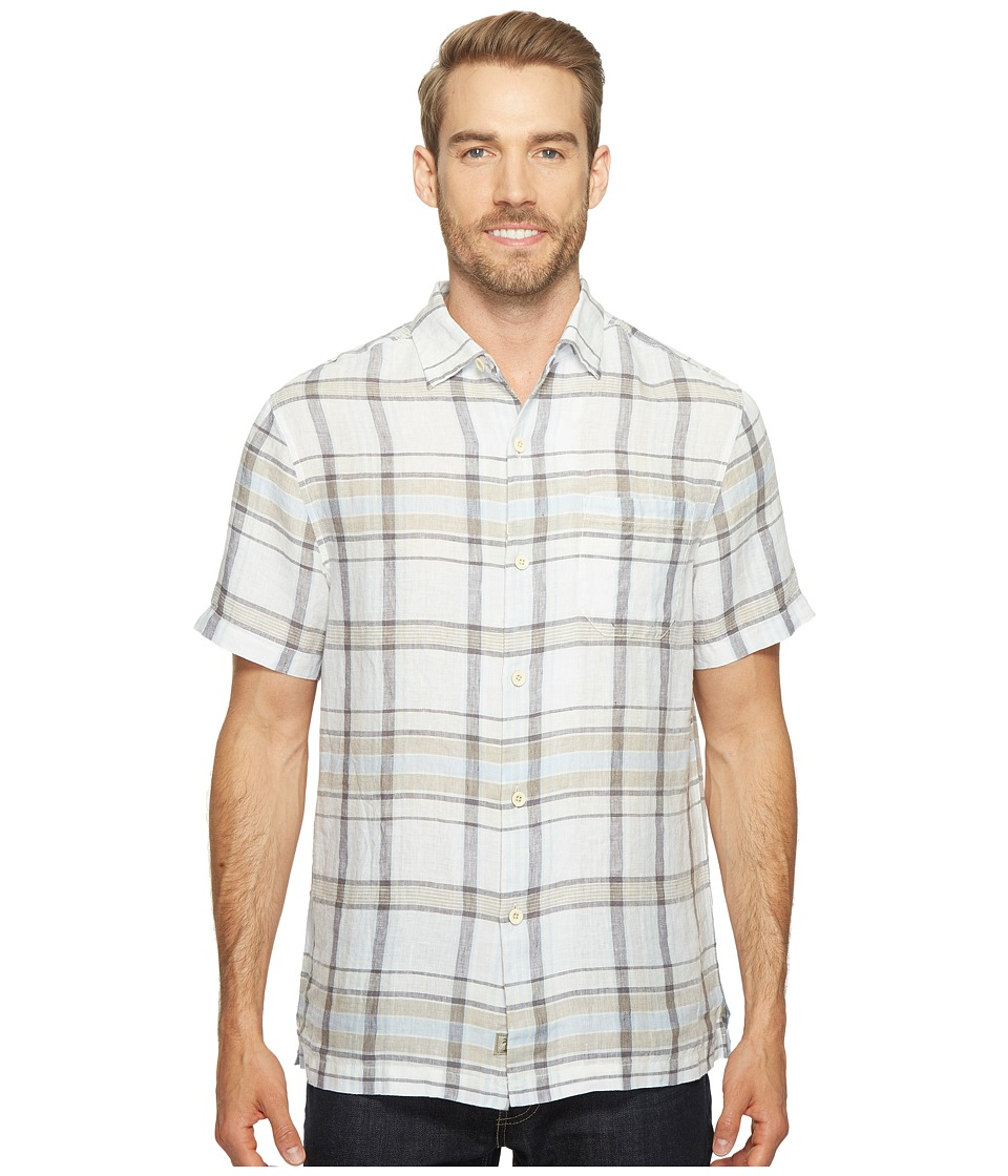 Tommy Bahama Plaid-O-Matic Camp Shirt (Bright White) Men'...