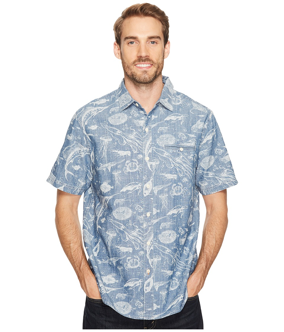 Tommy Bahama - Marlin Party Camp Shirt (Bering Blue) Men's Clothing