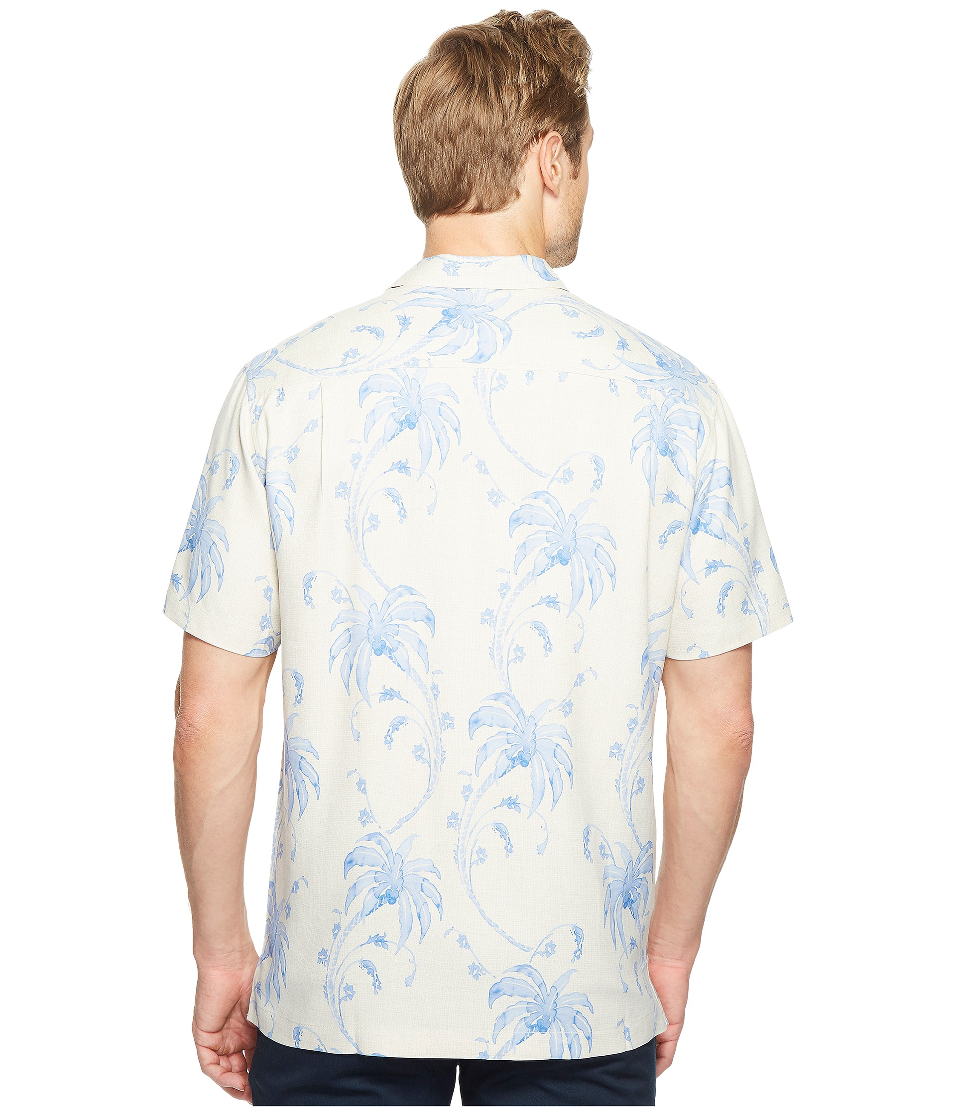 Tommy bahama palm tree tropics camp shirt at for Do tommy bahama shirts run big