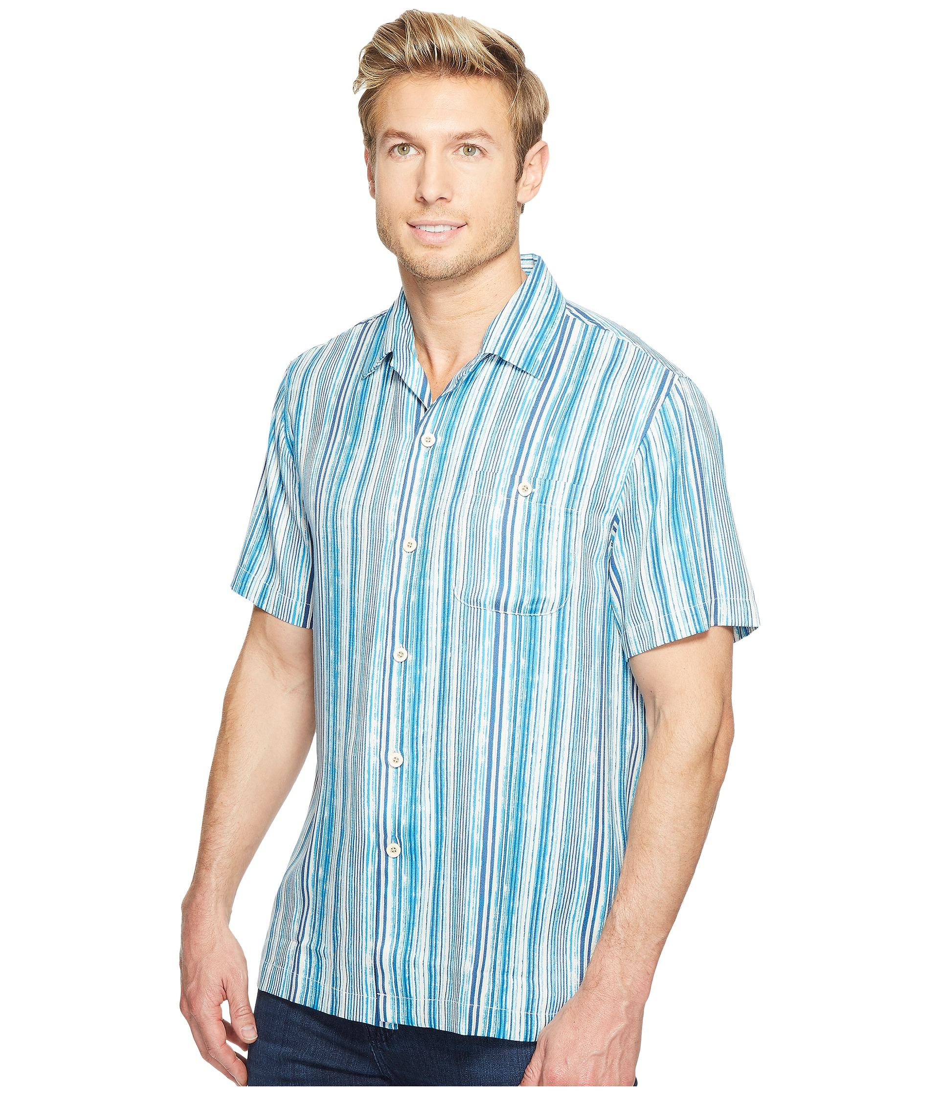 Tommy Bahama Stripe Me To Paradise Camp Shirt At