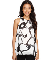 Vince Camuto - Sleeveless Modern Cut Out Floral Blouse