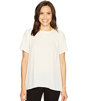 Vince Camuto - Short Sleeve High-Low Hem Blouse with Back Yoke Lace