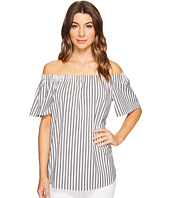 Vince Camuto - Short Sleeve Off Shoulder Stripe Blouse