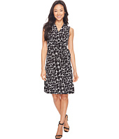 Vince Camuto - Sleeveless Stamp Impression Wrap Dress